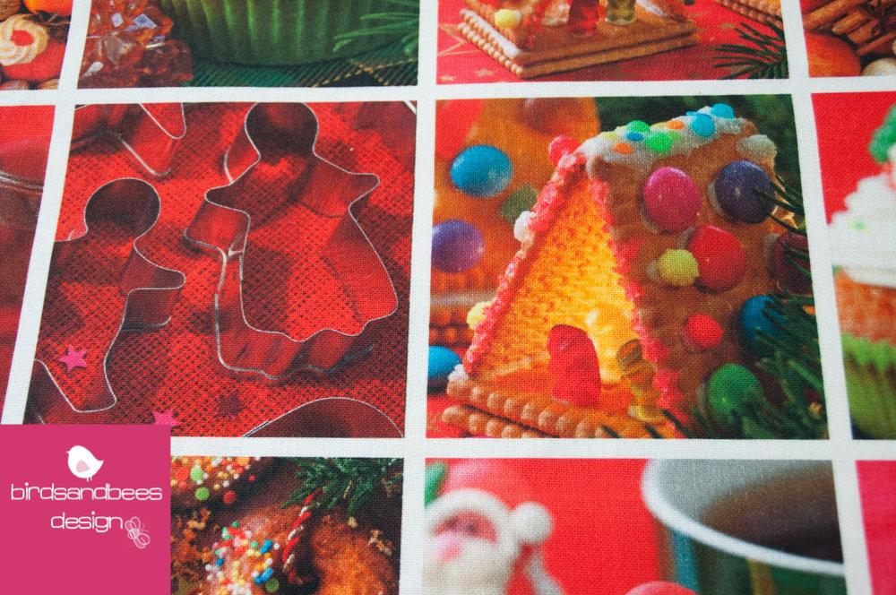 Baumwolldruck NIKOLAUS candy 2