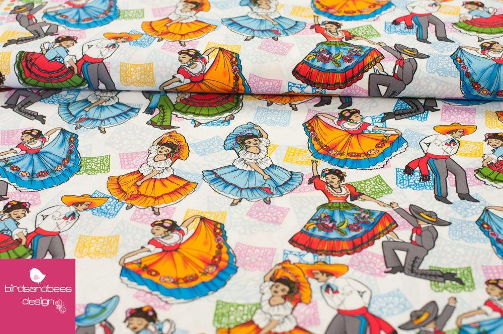 Folklore Ballet weiß by David Textiles