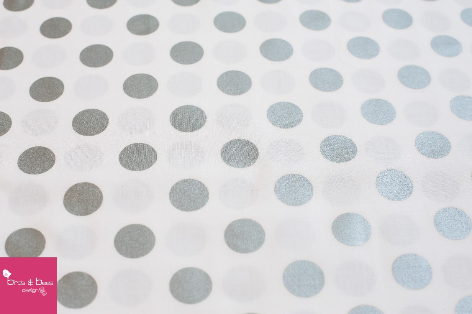 Glitz quarter dot weiß-silber by Miller