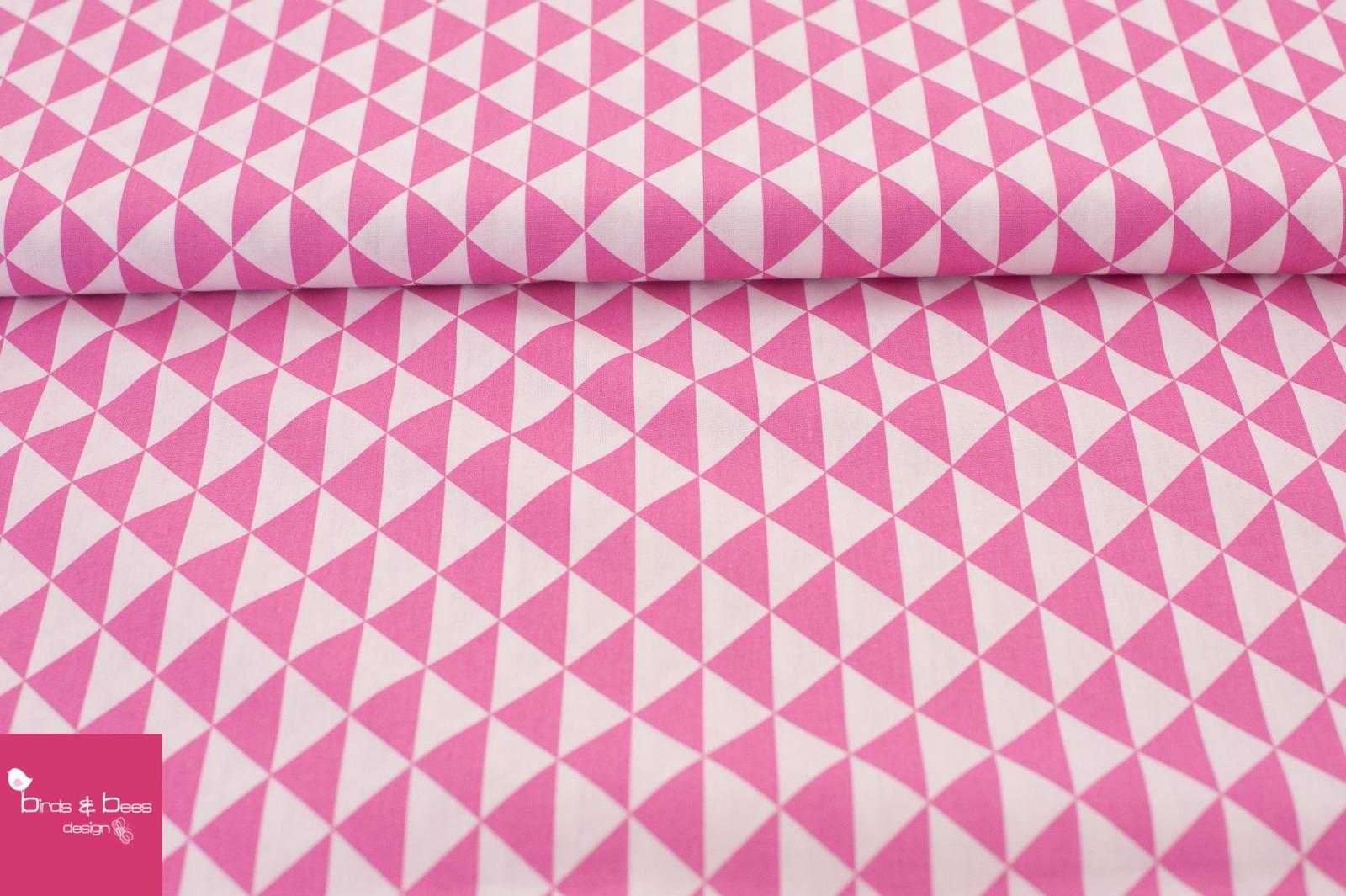 Baumwolle Dreieck weiß-pink 3