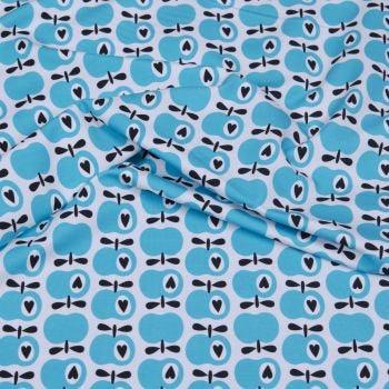 SIMPLY APPLES hellblau-weiß Popeline