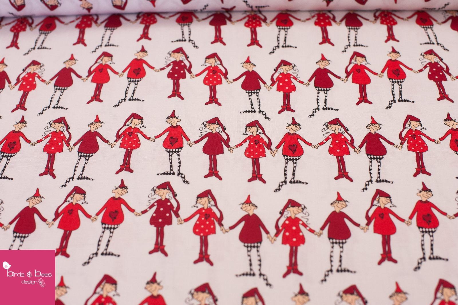 Christmas Dancing weiß by Copenhagen Prints