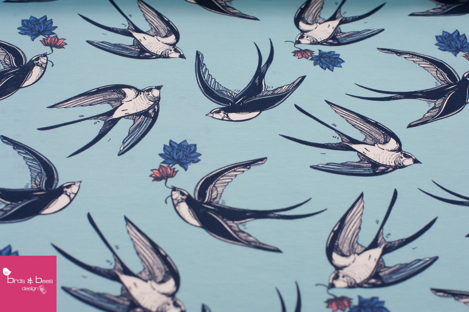 Schwalben Jersey hellblau