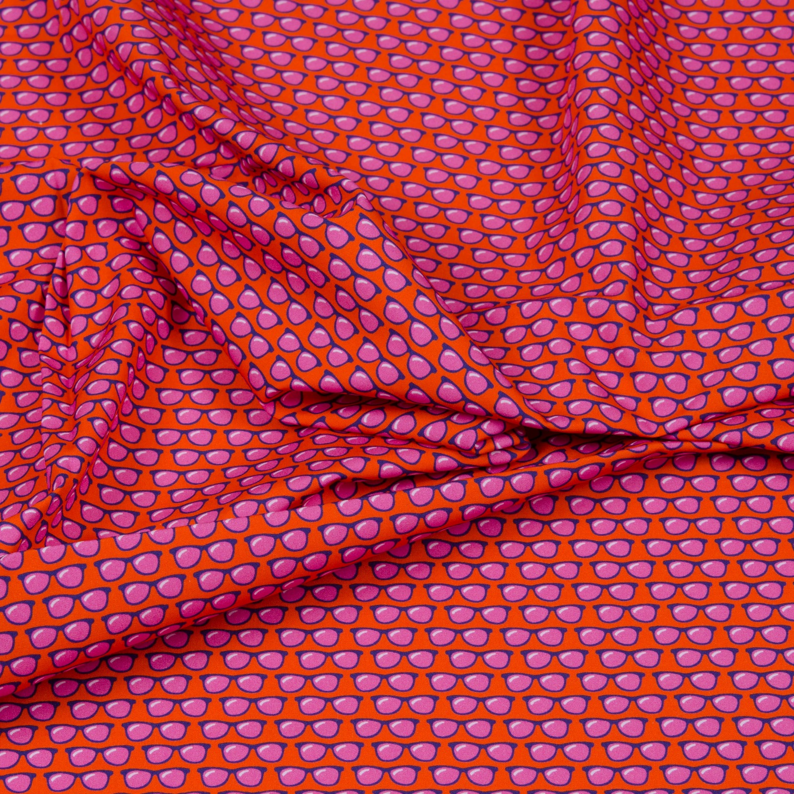 Amore sole Mio Popeline Orange By