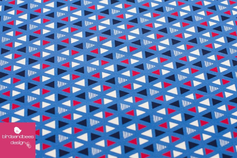 Dreiecke rot-blau BW Jersey von hilco