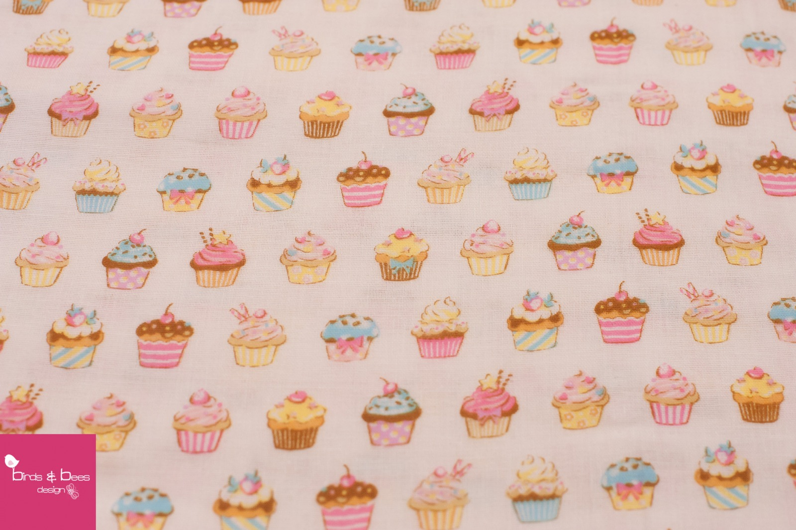 Cupcakes beige Double Gauze