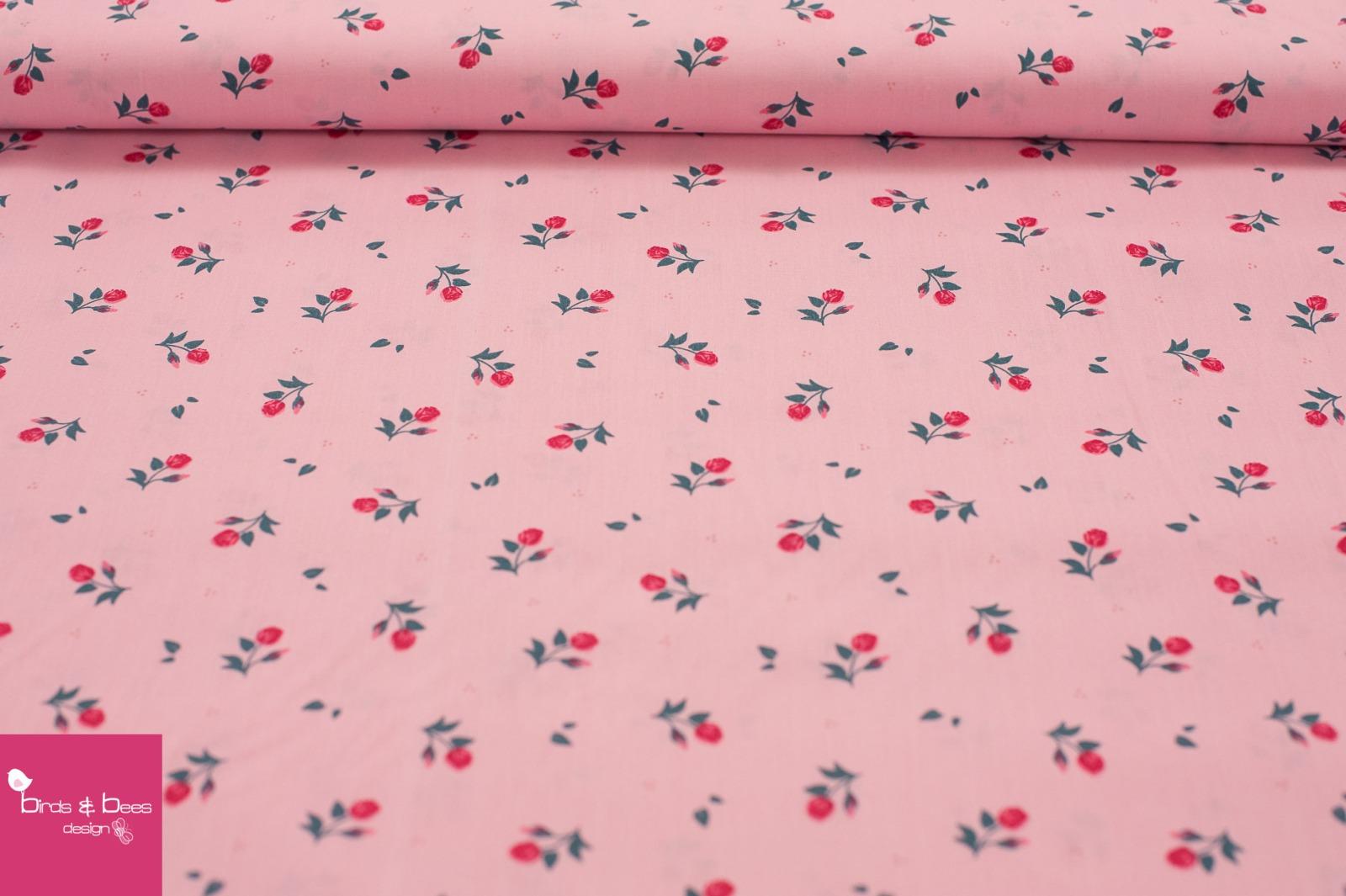 Baumwolle MIDI Röschen rosa 2