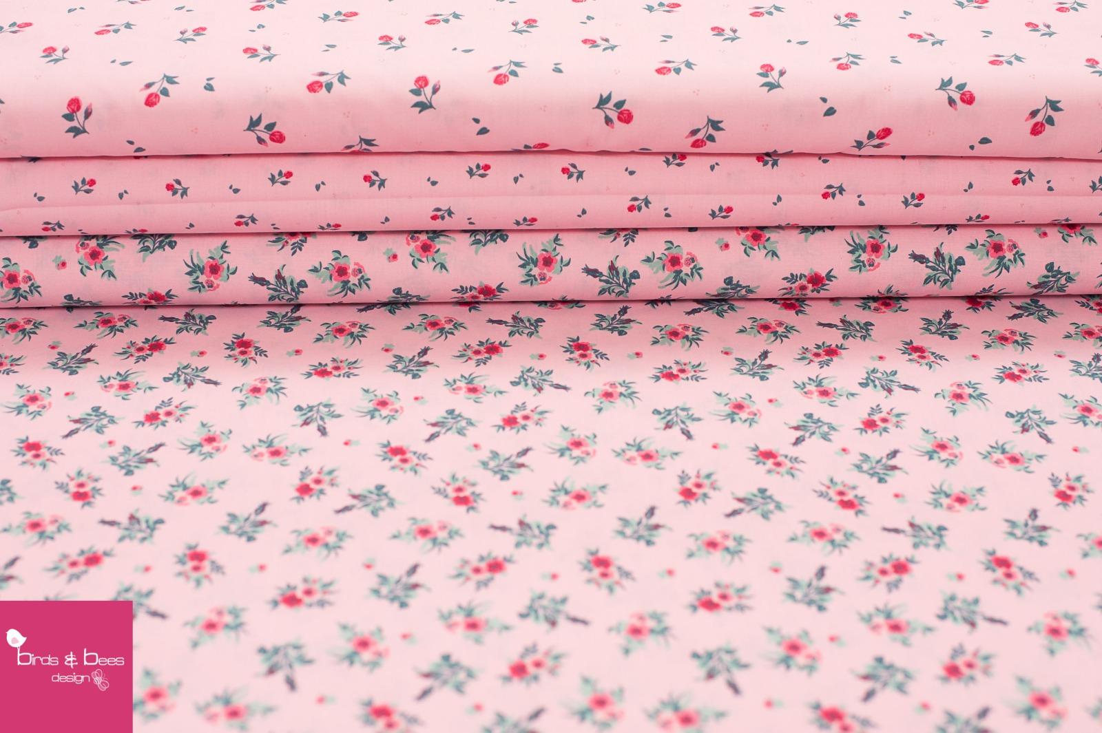 Baumwolle MIDI Röschen rosa 4