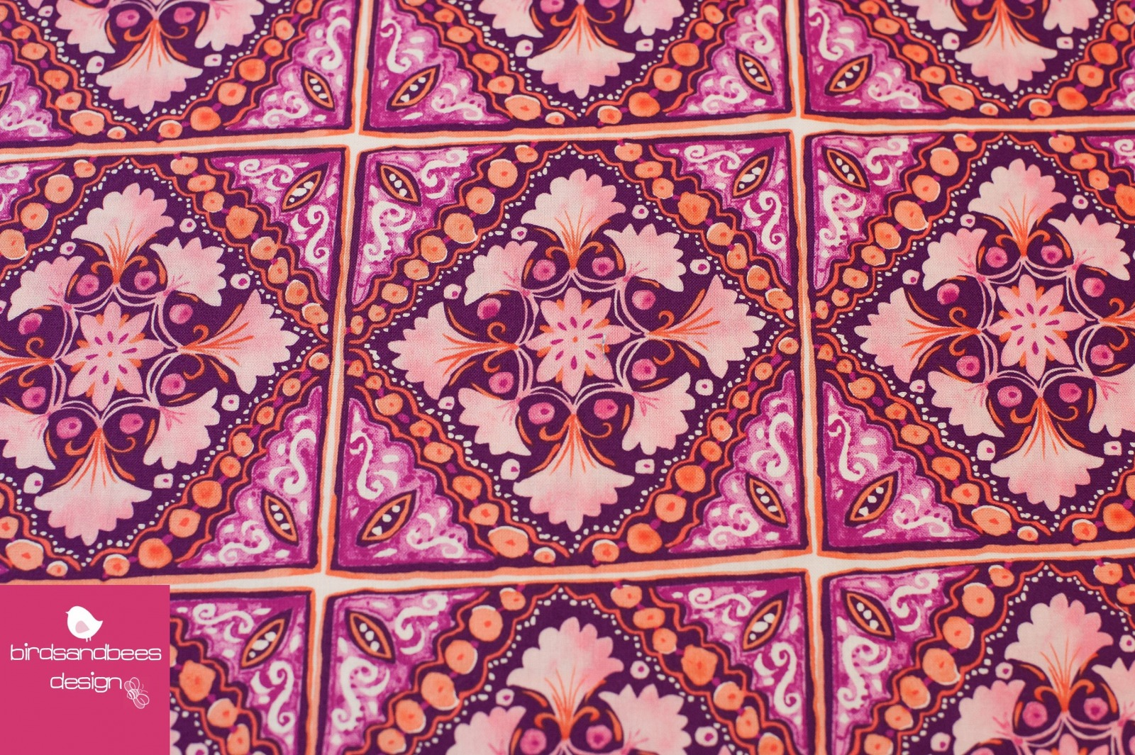 Turkish Tile fuchsia Michael Miller