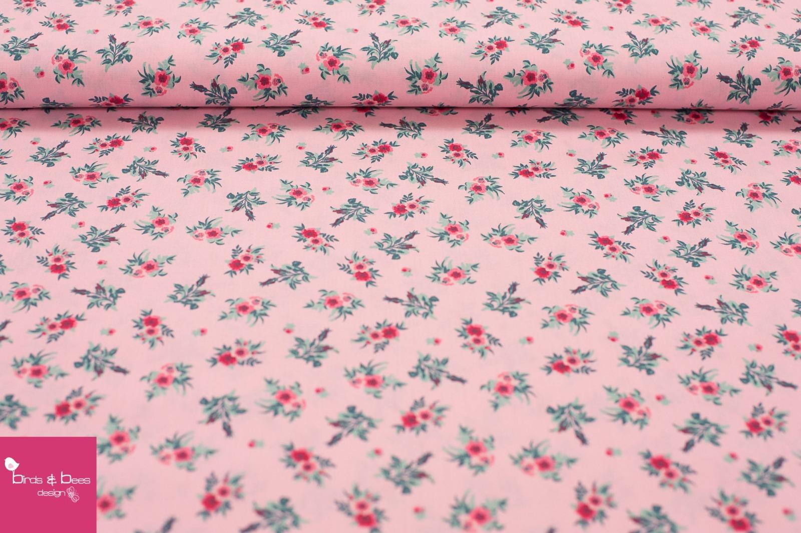 Baumwolle Rosen rosa 4