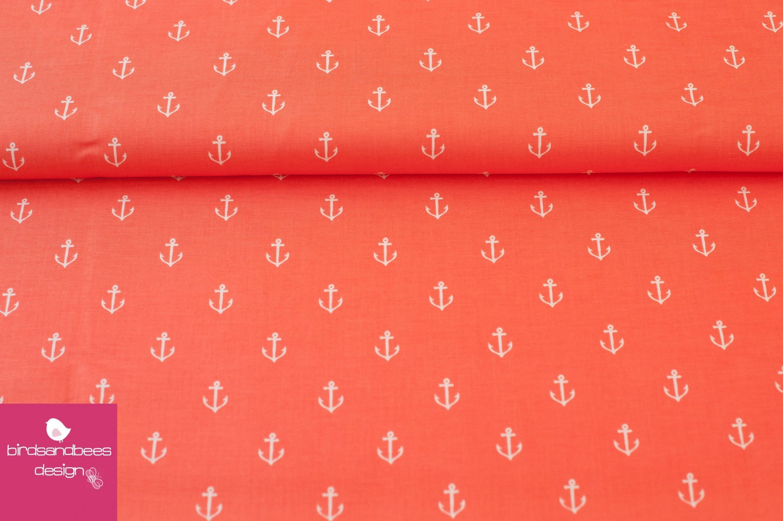 ANCHORS AWAY coral by Sarah Jane