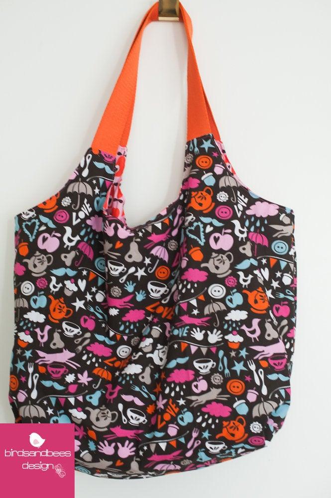 Schultertasche-Markttasche Simply Pears 4