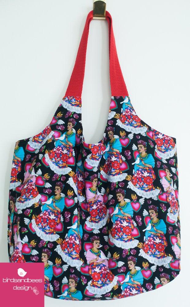 Schultertasche-Markttasche Frieda