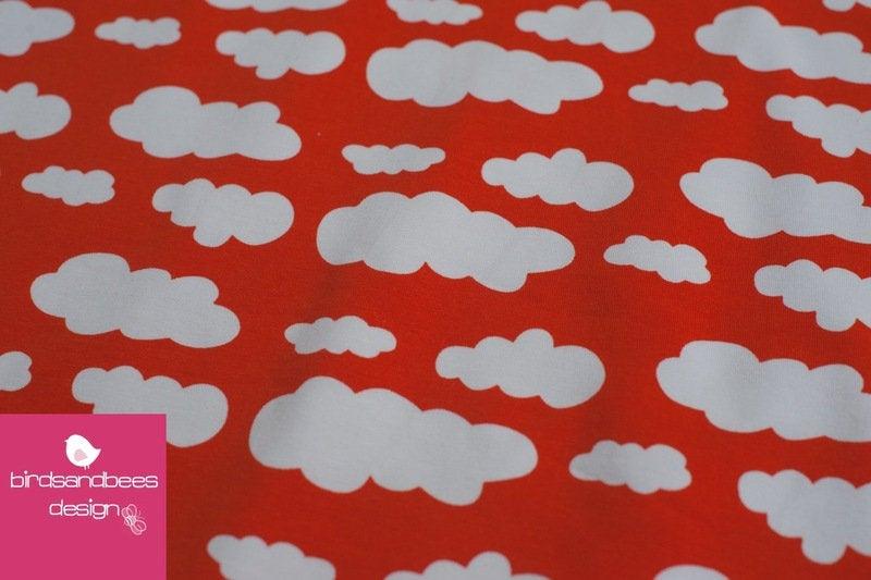 VICENTE Wolken orange Jersey Öko-Tex-Standard 2