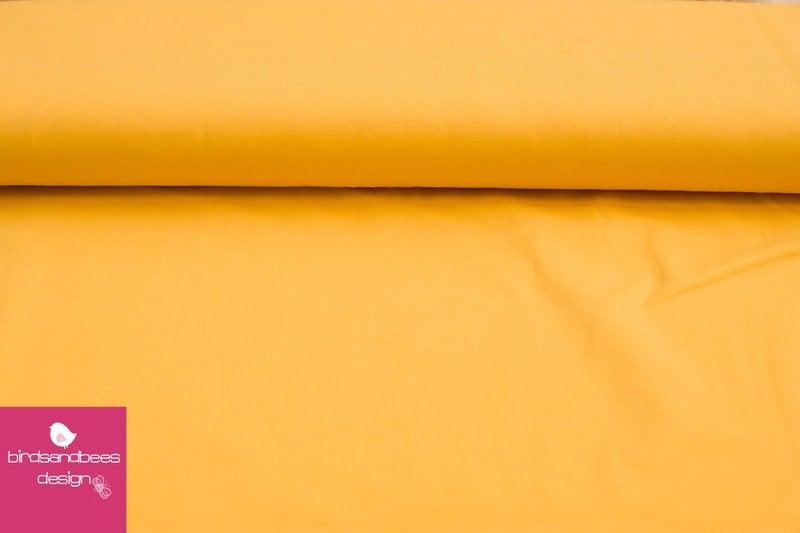 Baumwoll-Jersey UNI gelb 2
