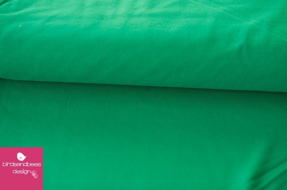 Baumwoll-Jersey UNI dunkelgrün 2
