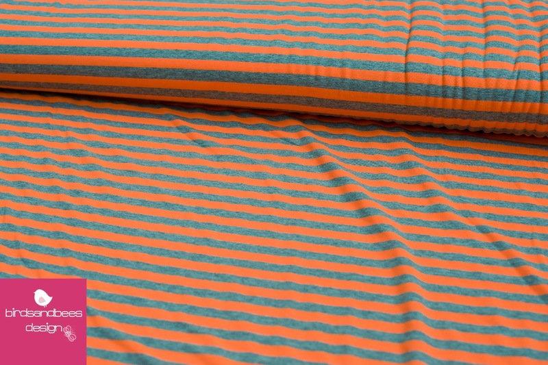 Jersey Sreifen neon-orange 2