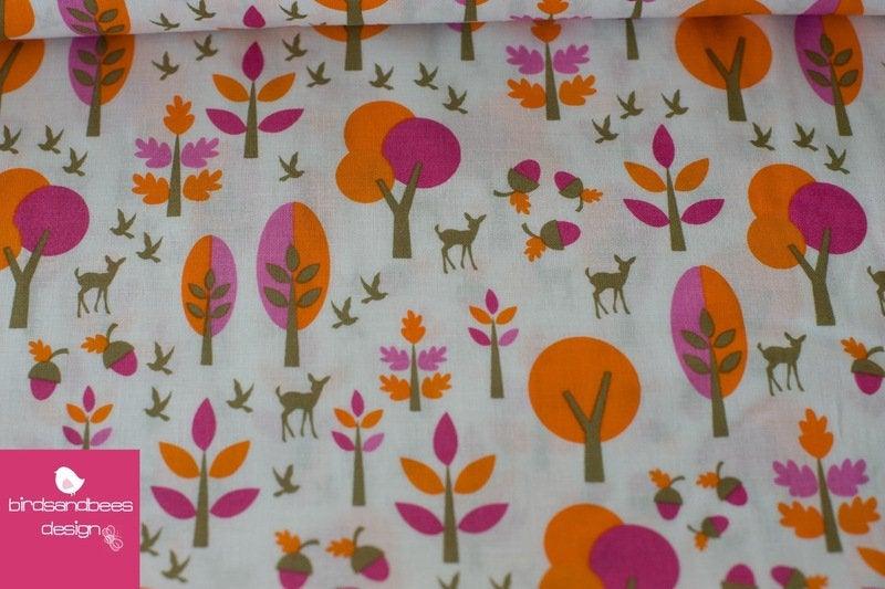 Bambi Forest orange-pink by Copenhagen Print