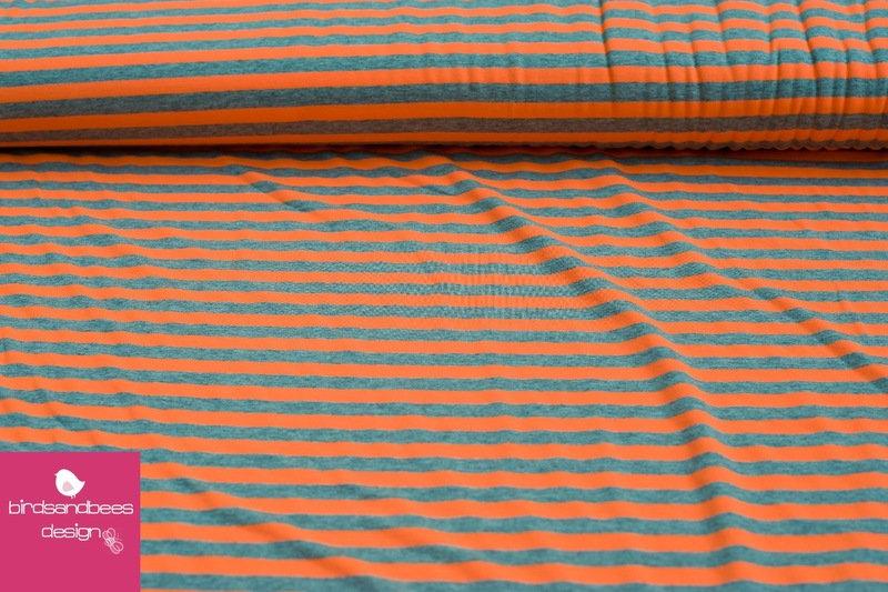 Jersey Sreifen neon-orange 3