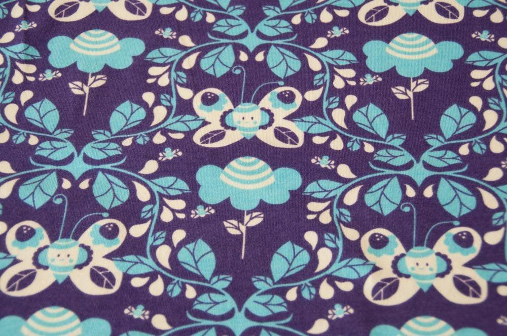 Jersey JOY Schmetterling lila Öko-Tex-Standard 2