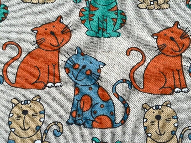 PAULA Baumwoll-Leinen Katzen 2