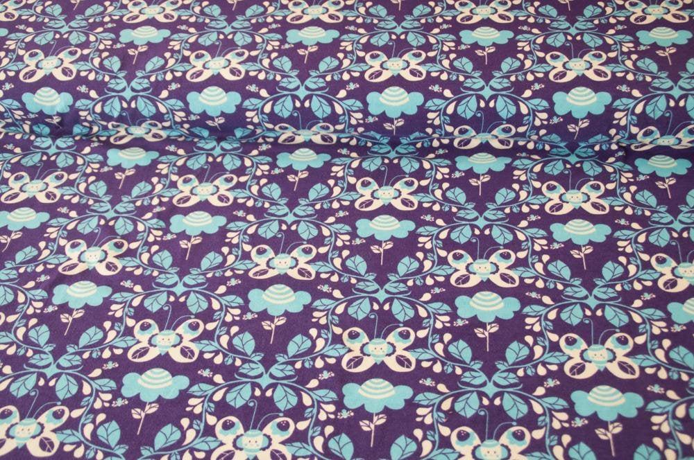 Jersey JOY Schmetterling lila Öko-Tex-Standard 3