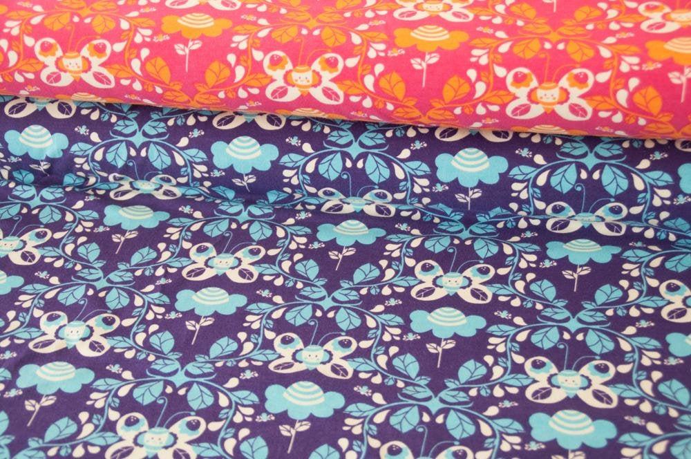 Jersey JOY Schmetterling lila Öko-Tex-Standard 4