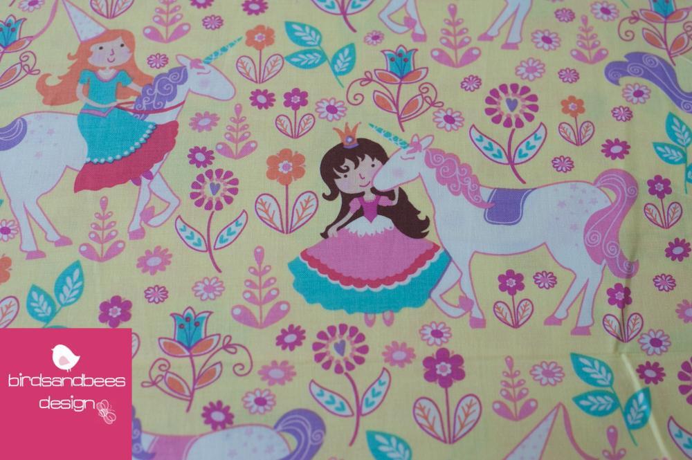 Unicorn Princess gelb by Michael Miller
