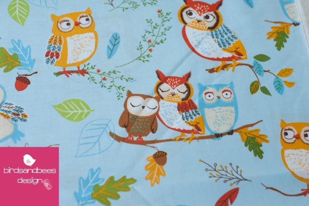 Forest Fellows Owls hellblau by Robert