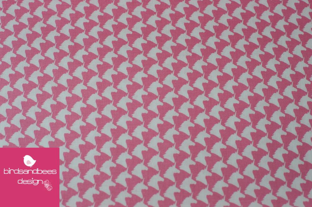 Unicorn Houndstooth light pink by Michael