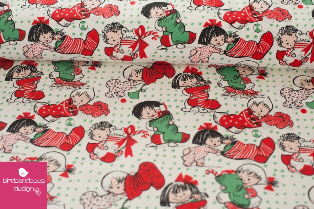 Vintage Christmas FLANELL by Michael Miller