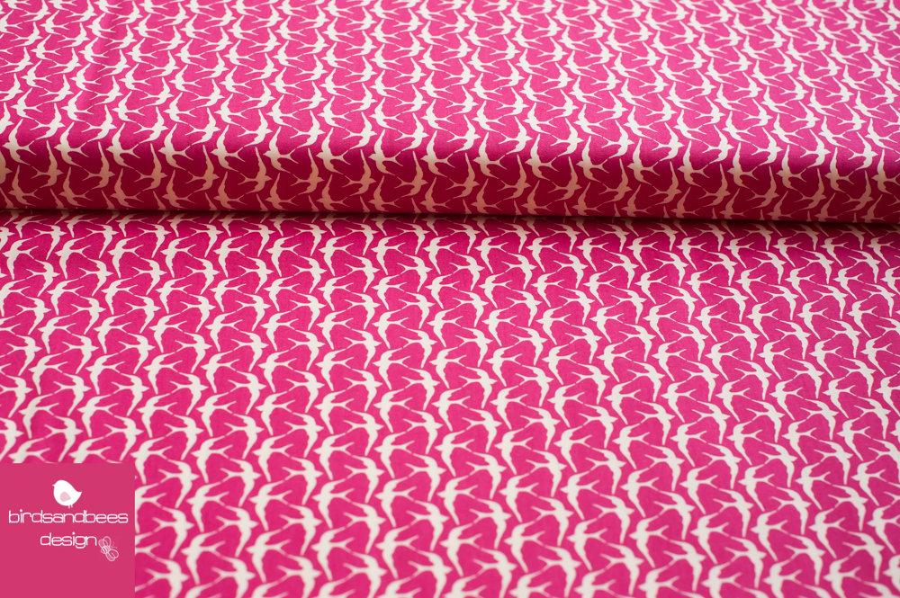 cotton steel utopia Schwalben pink