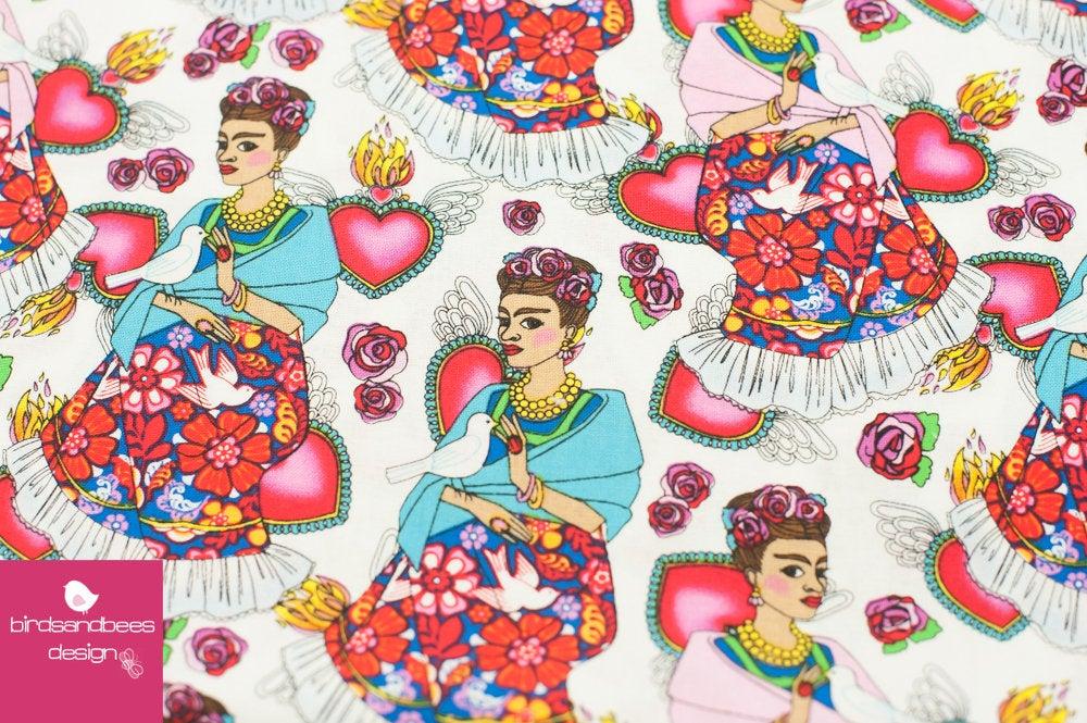Folk Frieda weiß by David Textiles