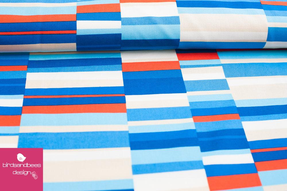 Geo Pop Canvas bright Streifen