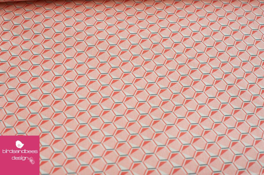 FRAGMENTAL Hexagon lachs-grau by Robert Kaufman