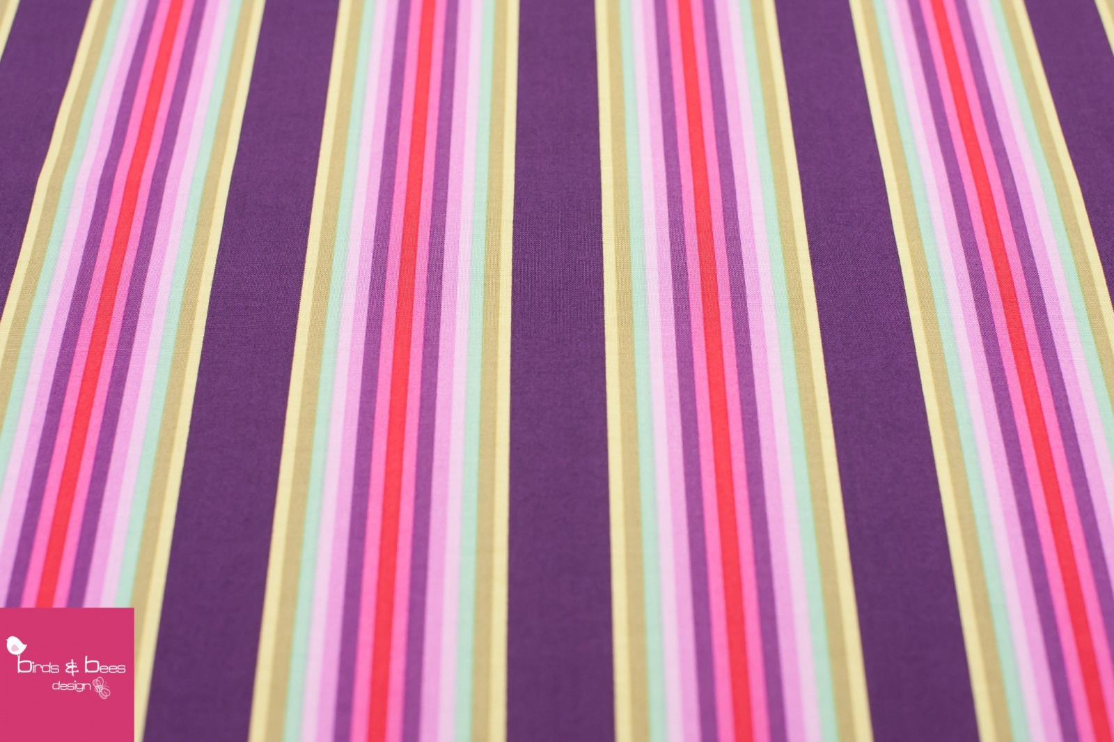 CHIPPER Tick Tock Stipes raspberry by