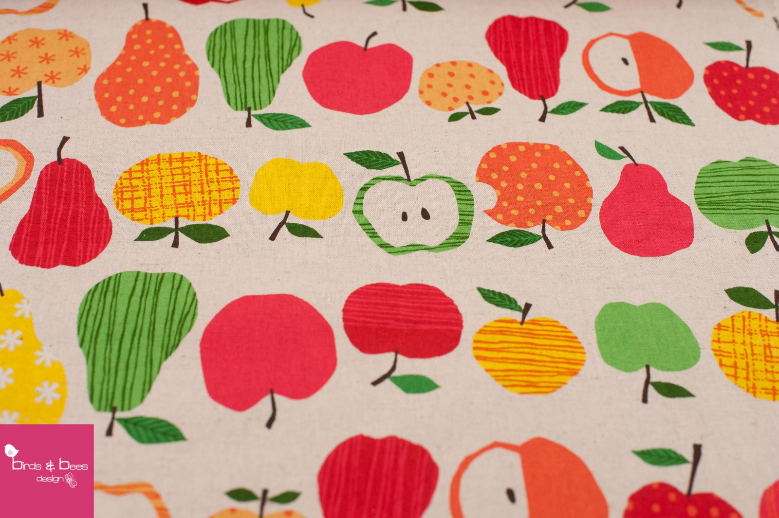 APPLE PEARS rot Canvas by cosmo