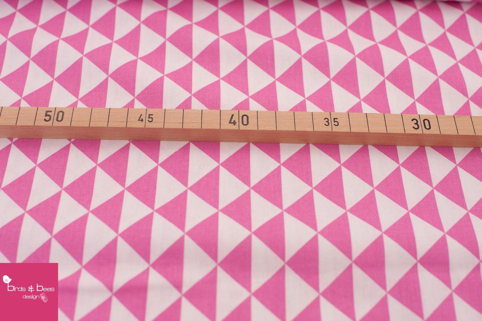 Baumwolle Dreieck weiß-pink 2