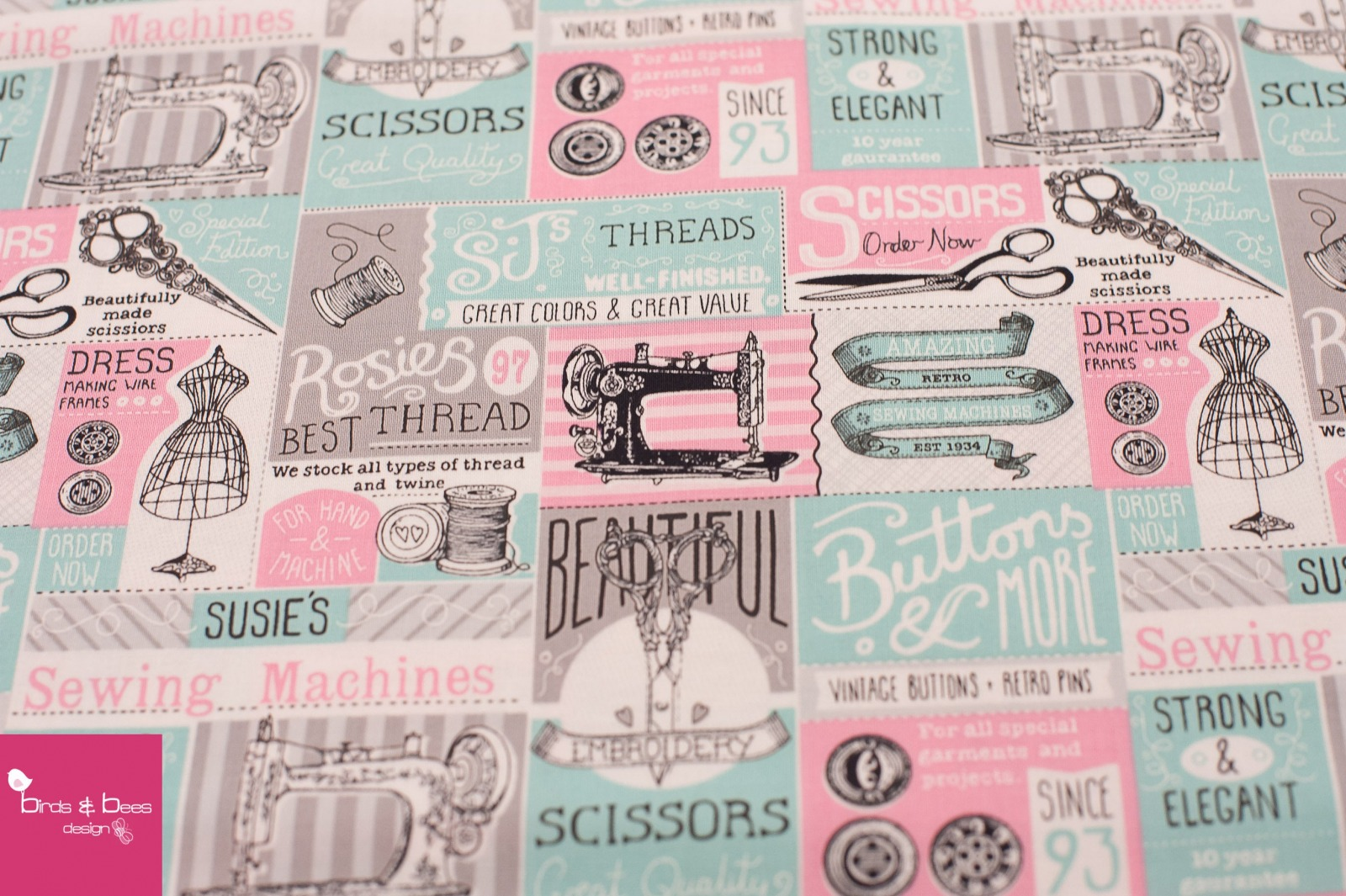 VINTAGE SEWING PATCH by Timeless Treasures