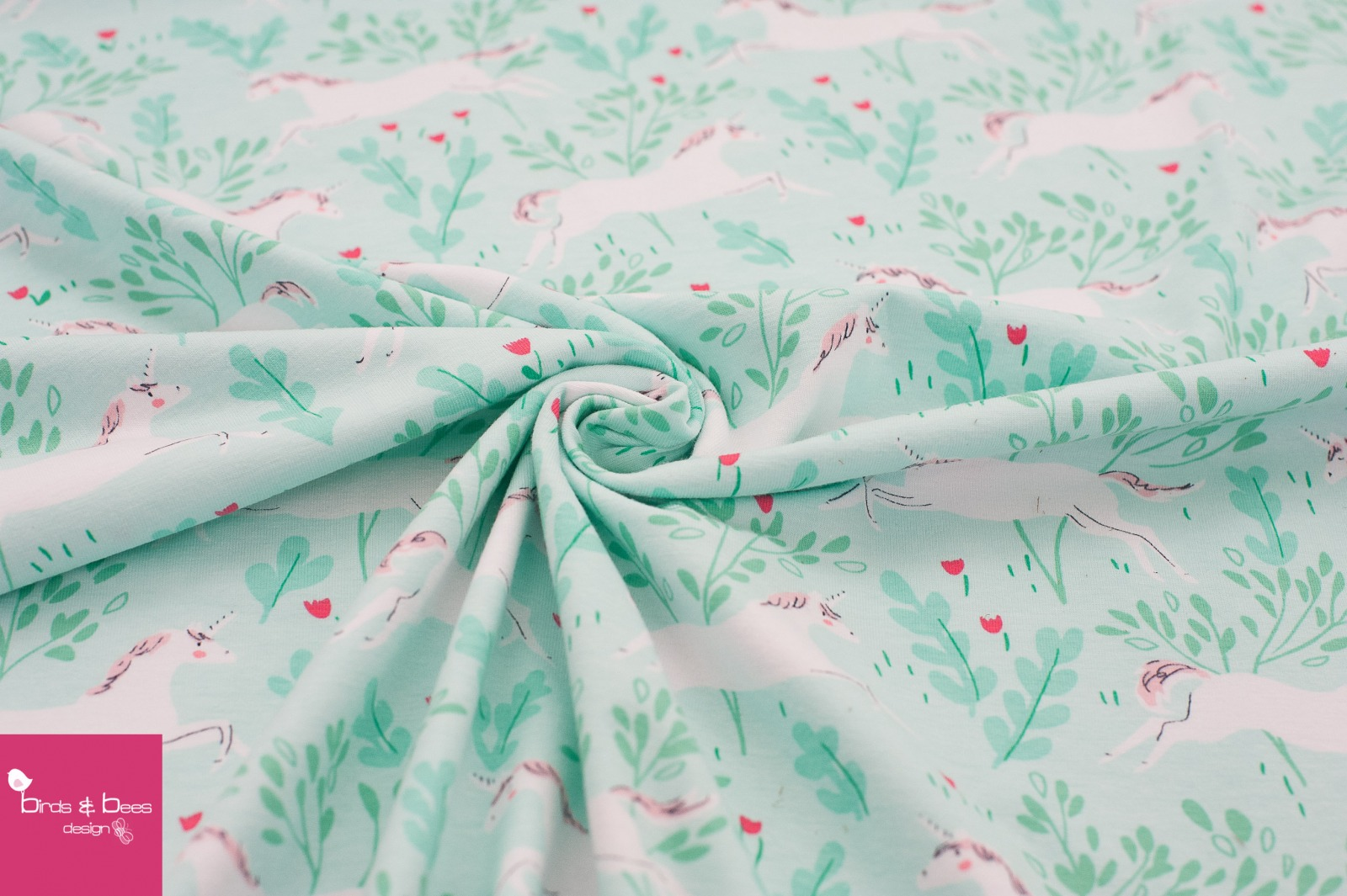 MAGIC unicorn forest mint JERSEY by