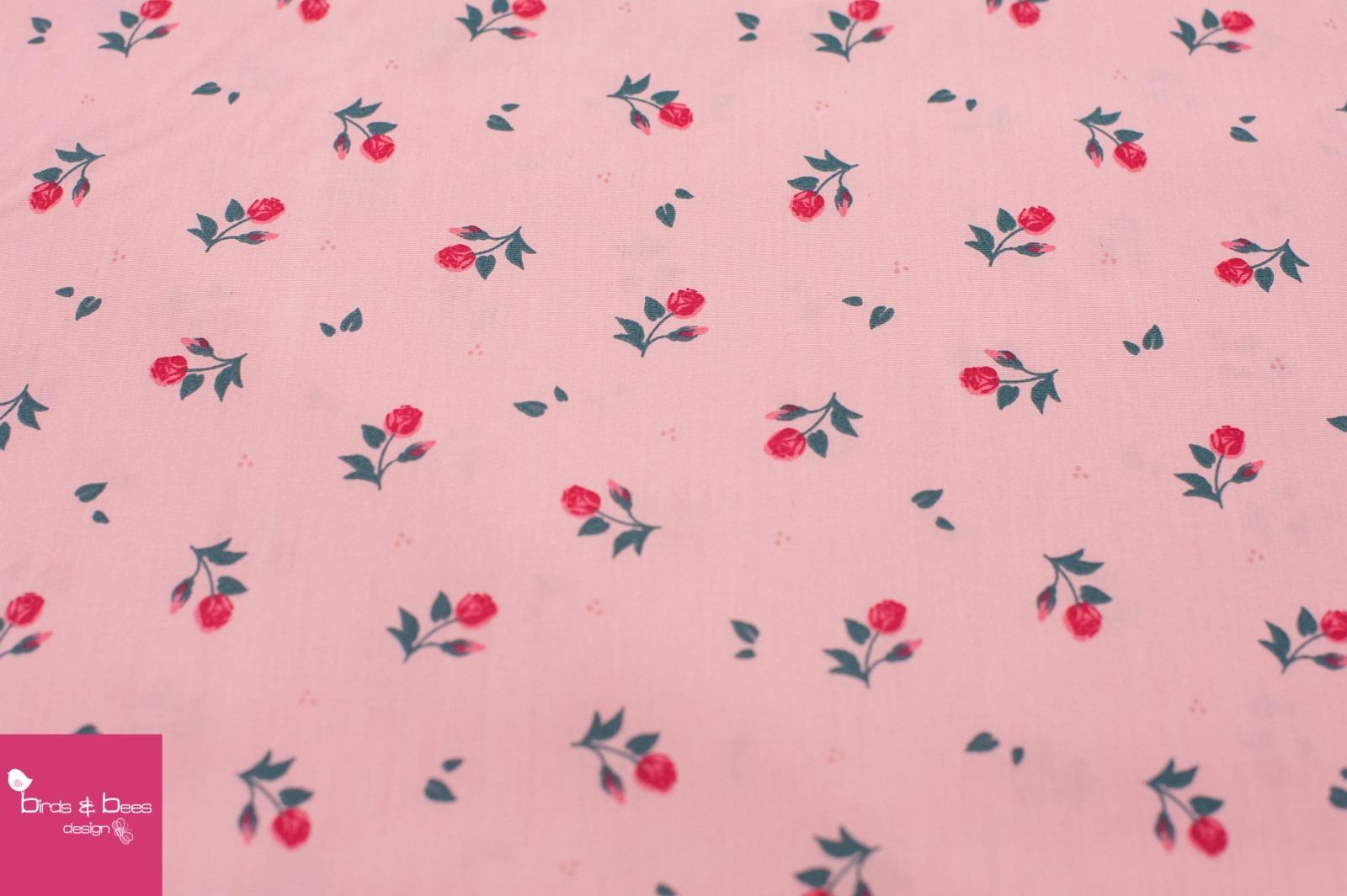 Baumwolle MIDI Röschen rosa