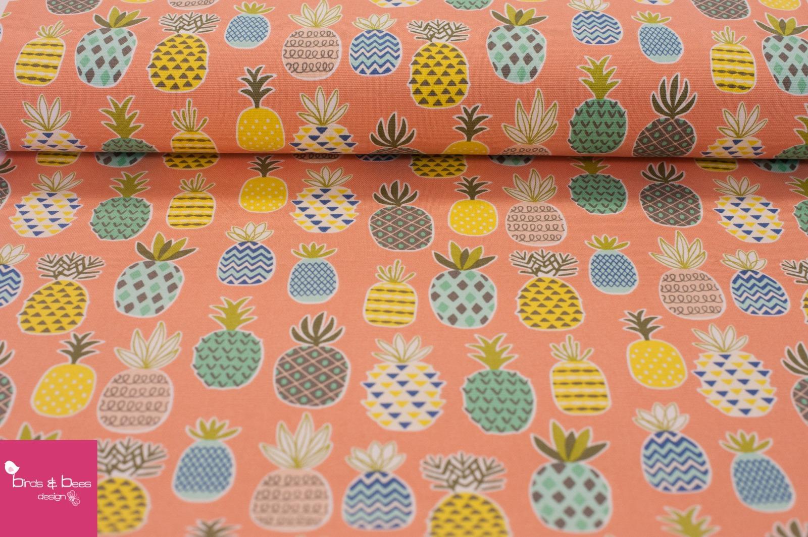 Pineapple Canvas peach 3