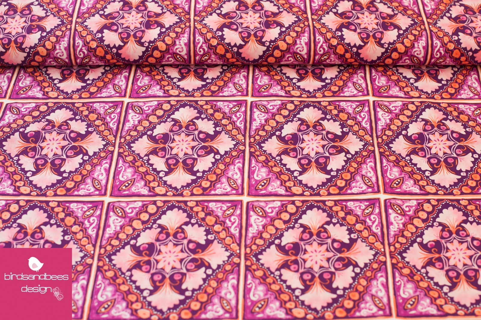 Turkish Tile fuchsia Michael Miller 2