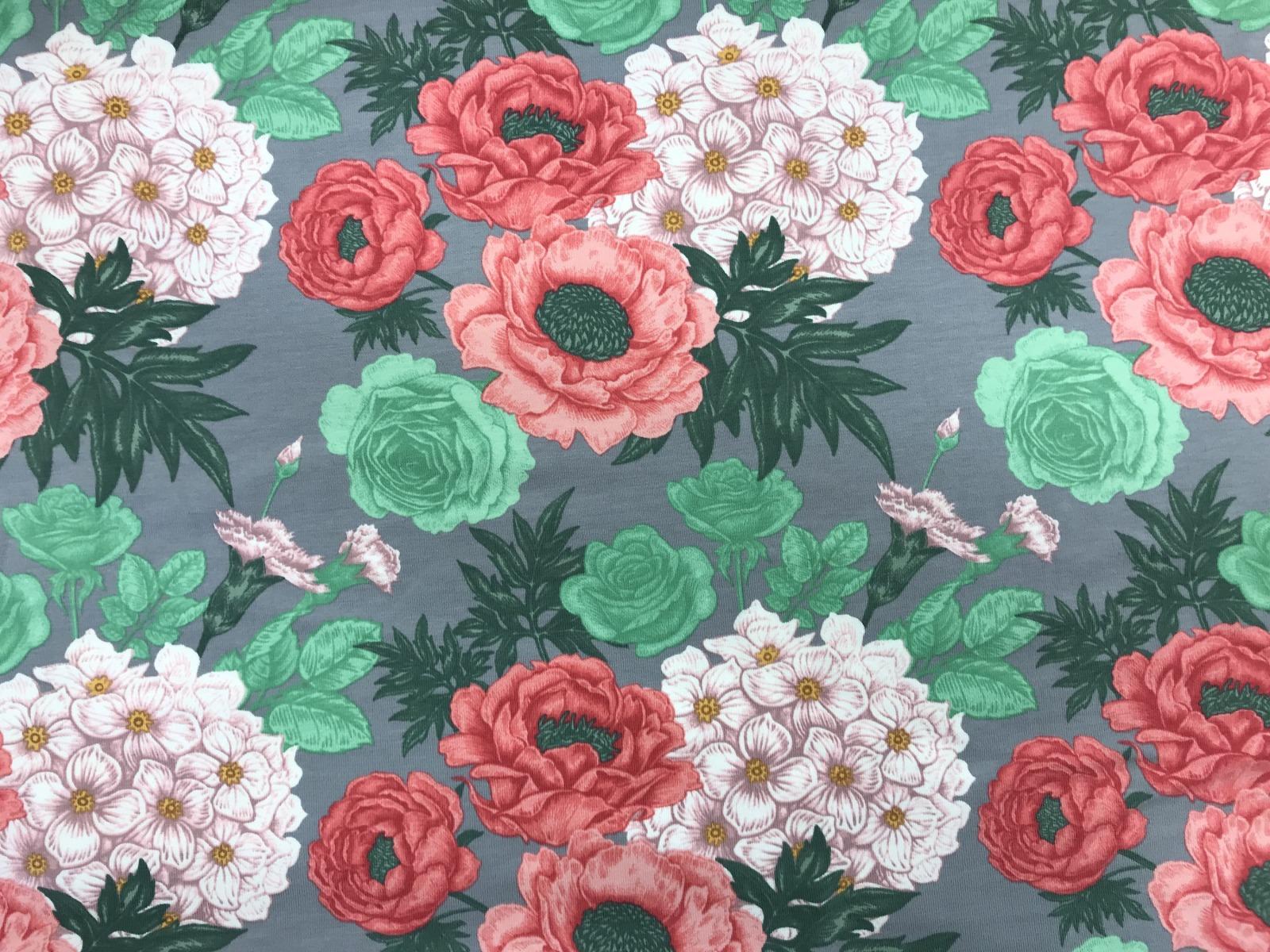 Flowers Baumwoll-Jersey 3