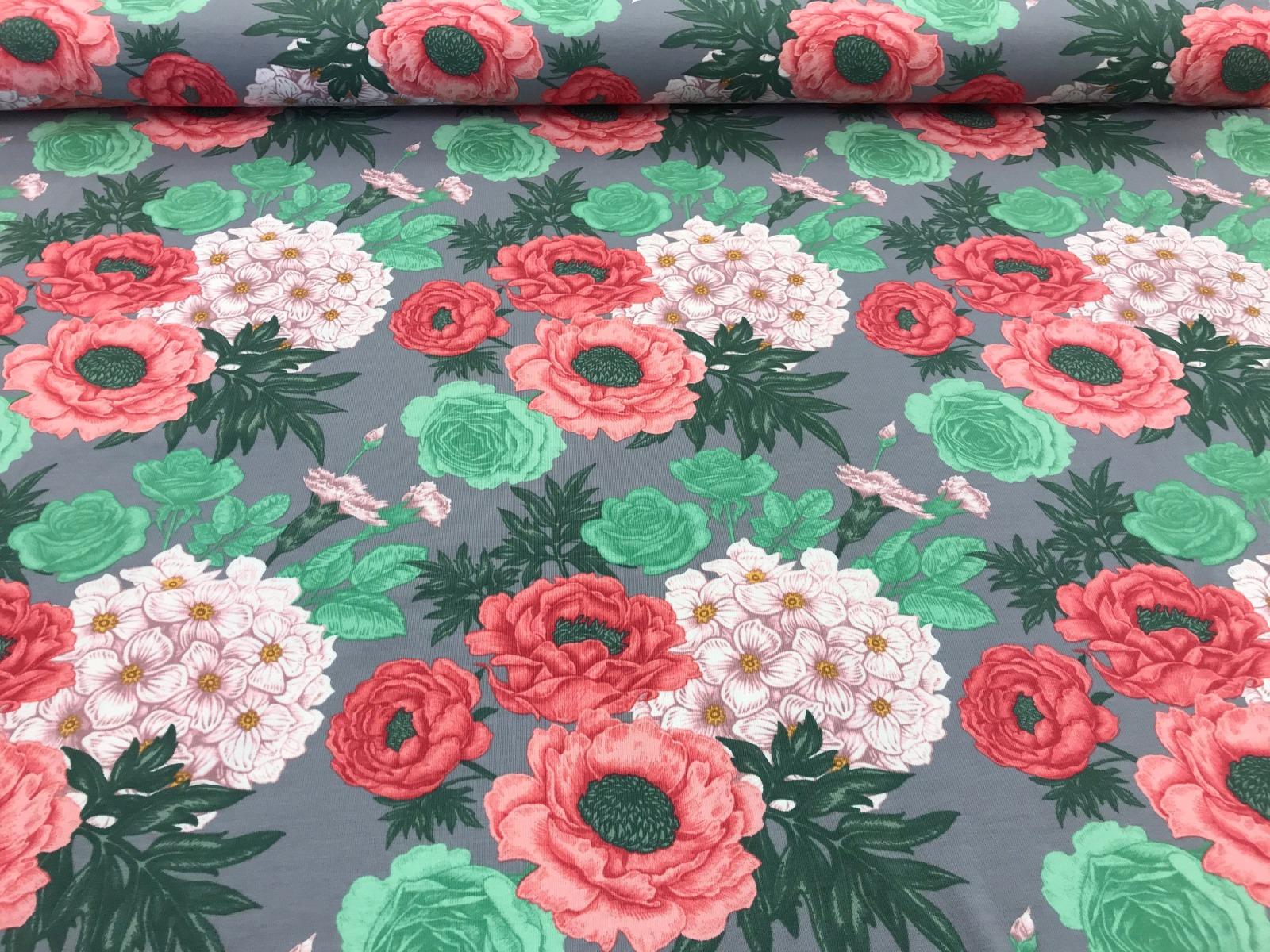 Flowers Baumwoll-Jersey 4
