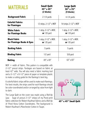 FLORENCE FLAMINGO Quilt Kit 3