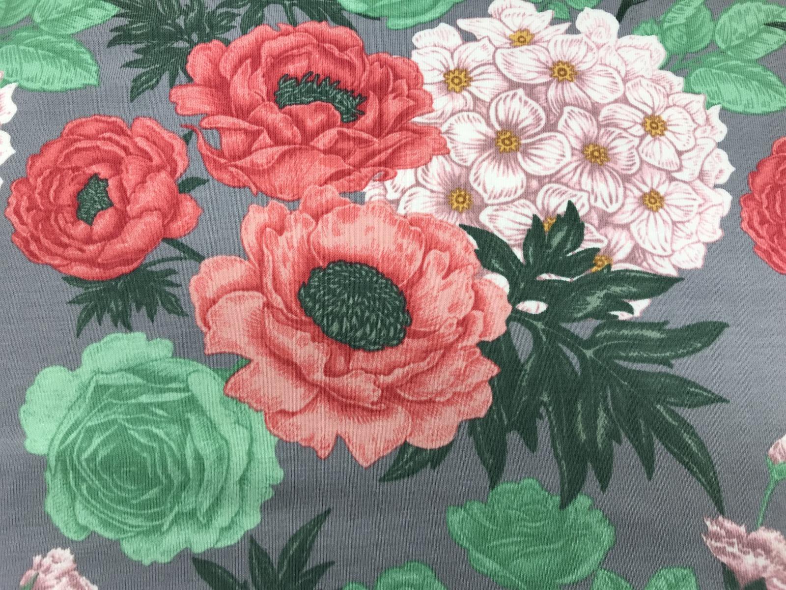 Flowers Baumwoll-Jersey 2