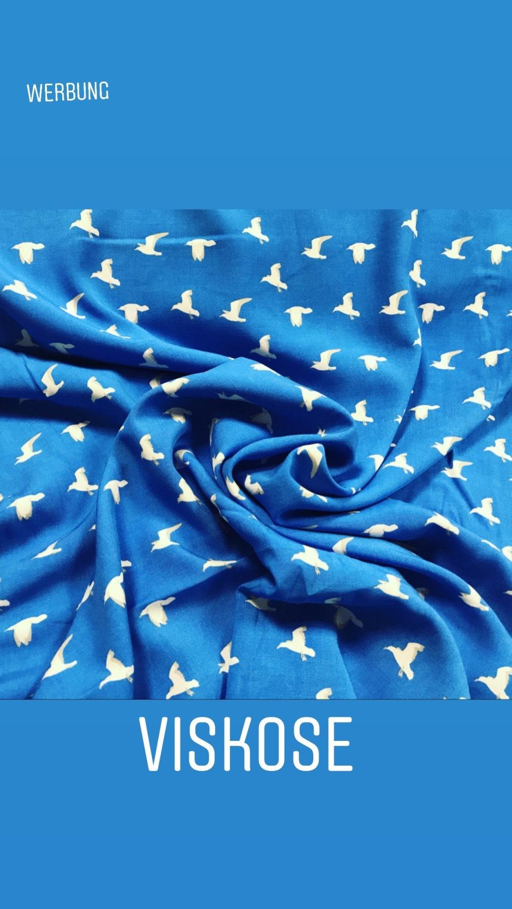 MÖWEN Viskose blau