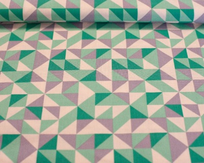 FRAGMENTAL Dreieck grau-grün by Robert Kaufman