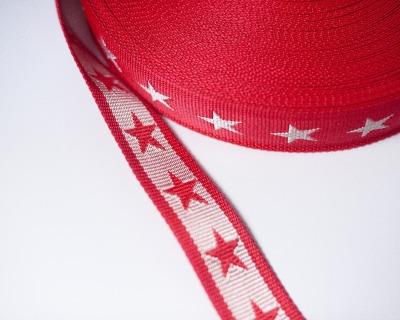 Gurtband Stern 1m 40mm Rot Weiß